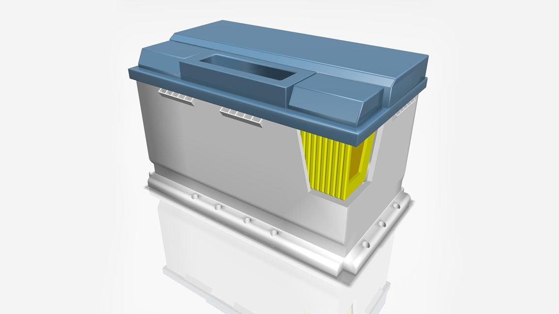 Batteriezellenfertigung in der E-Mobilität mit ViscoTec Dosiertechnik.