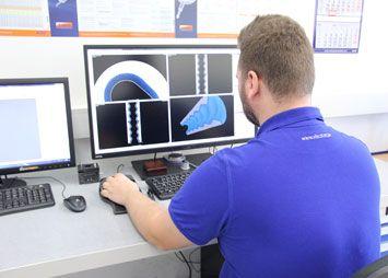 CT checking of stators.