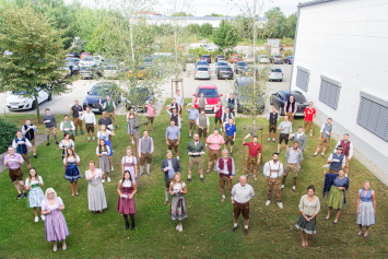 "Many employees have followed the call of the management and appeared last Friday in traditional ""Tracht"" to work."