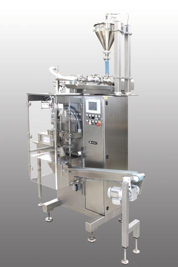 Source: Merz Verpackungsmaschinen GmbH – tubular bag filling machine with integrated ViscoTec dispensing technology.
