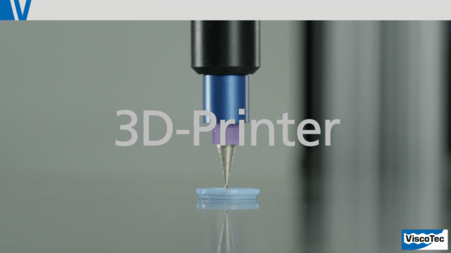 3D Printing from Viscotec - pastes, paste, fluids, fluid, silicone, bio suspension, printing head, printer head, high viscous, endless piston principle, prototyping, prototype, 3D technology, UV