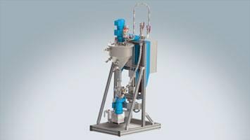 Aufbereitungssystem und Zuführsystem für flüssige Materialien ViscoTreat-Inline