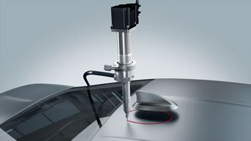 Adhesive dispensing with ViscoTec dosing pumps in an automotive application - antenna bonding