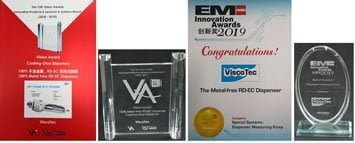 Double awarded metal-free dispenser: With the 14th EM Asia Innovation Award and the 13th SMT China VA Vision Award.