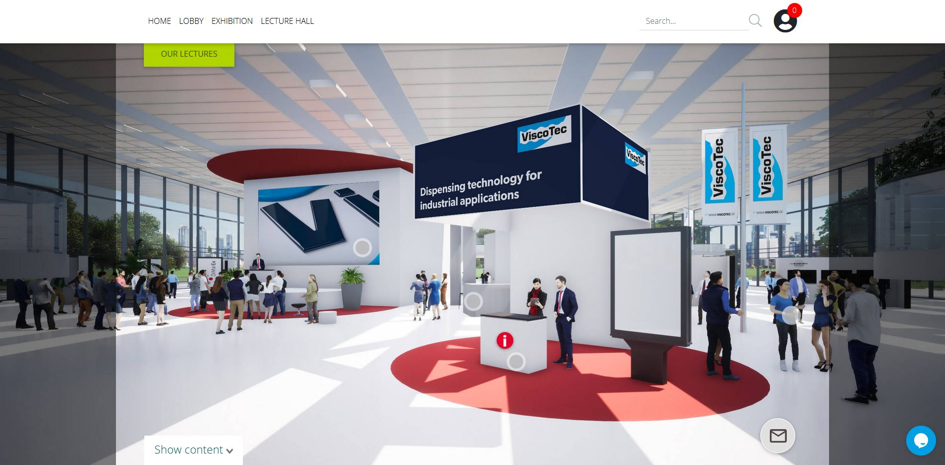 Entrance to ViscoTec Dispensing Expo 2020