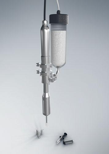 Dosing technology for filling syringes and unit dose packages.