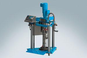 Emptying system for low to high viscosity fluids