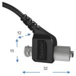 flowplus Drucksensor mit Abmessungen