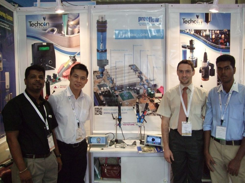 ViscoTec Messebericht productronica Indien 2014