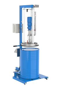 The 2VMP22-3D integrated into a barrel emptying system