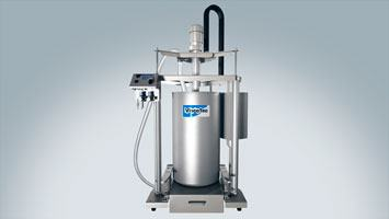 ViscoTec drum emptying system.