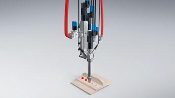 Système de dosage et de mélange ViscoTec pour l'étanchéité des applications aérospatiales